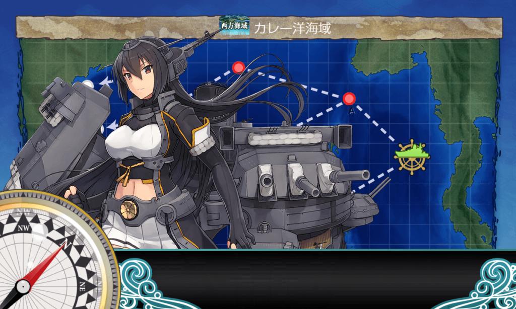 艦これ_kancolle_主力戦艦部隊「第二戦隊」を編成せよ!_「第二戦隊」抜錨!_4-2_00