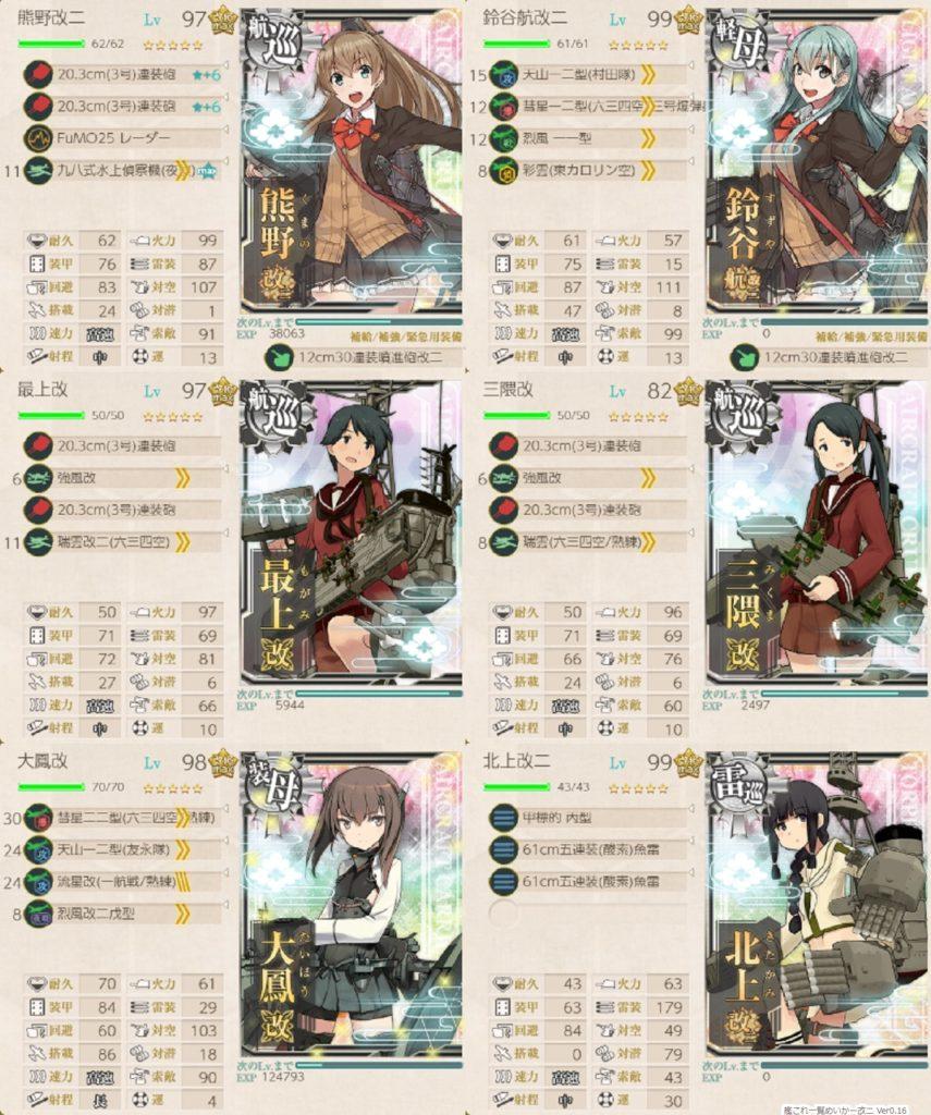 艦これ『新編「第七戦隊」、出撃せよ!』 6-2・攻略編成②_6-2_1_297_162.07