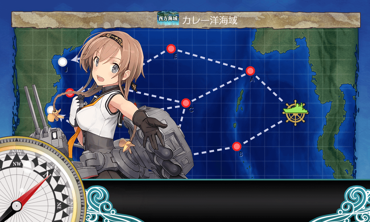 艦これ_kancolle_マンスリー任務_「空母機動部隊」西へ!_4-2_02