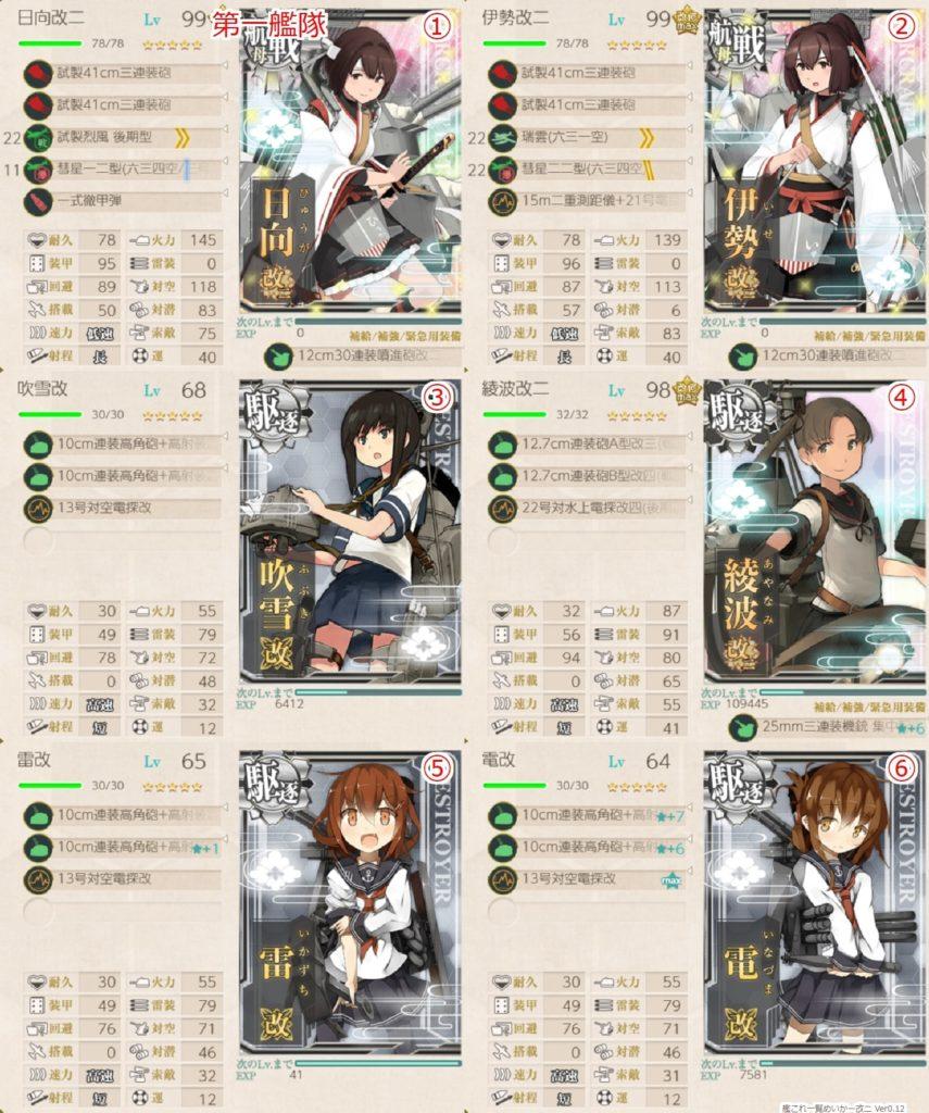 艦これ_kancolle_出撃_航空戦艦戦隊、戦闘哨戒!_1-4_1-5_2-3_7-2-2_06