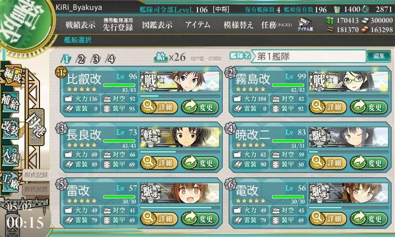艦これ 編成任務 海上突入部隊を編成せよ!・編成条件