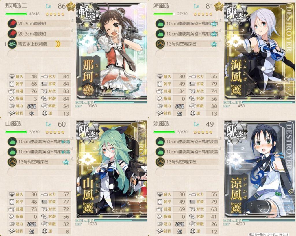 艦これ『近海哨戒を実施せよ!』/ 1-2・1-3・参考編成