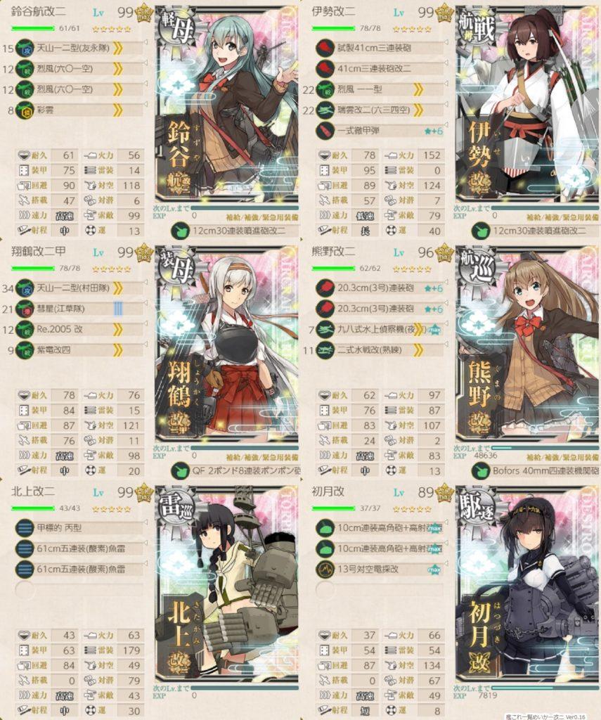 艦これ 出撃任務『改装攻撃型軽空母、前線展開せよ!』/ 6-5・参考編成