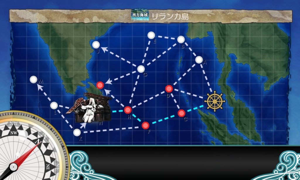 艦これ_kancolle_2期_二期_4-3_西方海域_リランカ島