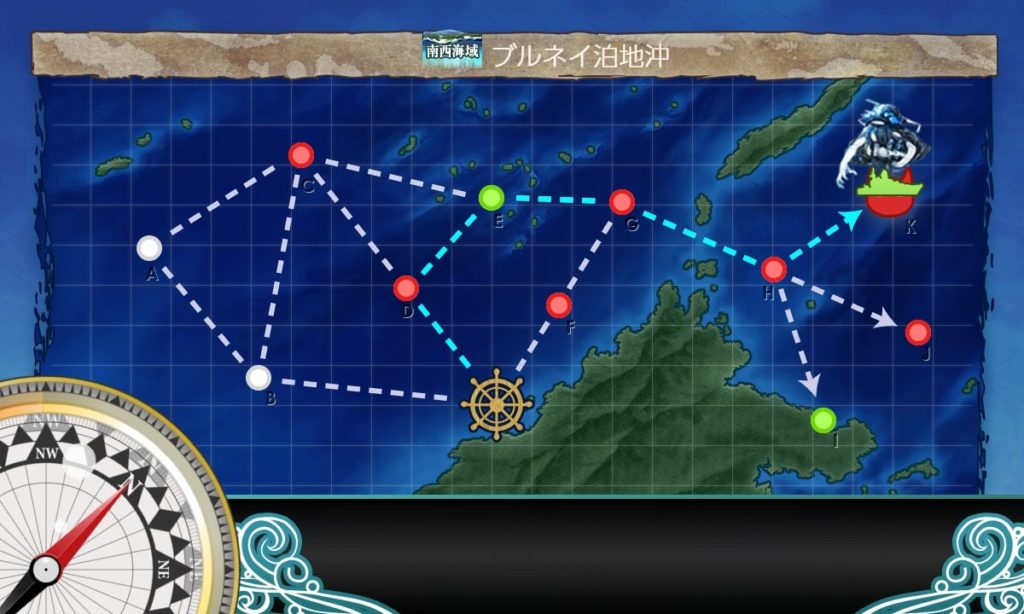 艦これ_kancolle_2期_二期_7-1_南西海域_ブルネイ泊地沖
