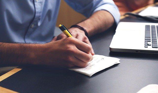 ノート,申込み,メモ,机