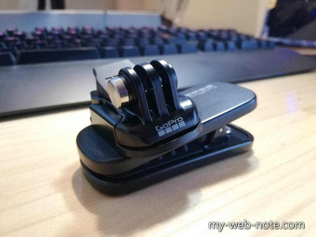 GoPro HERO 9 / マグネット付きスイベルクリップ / 360度回転可能