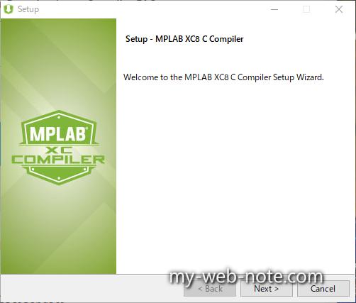 Setup - MPLAB XC8 C Compiler