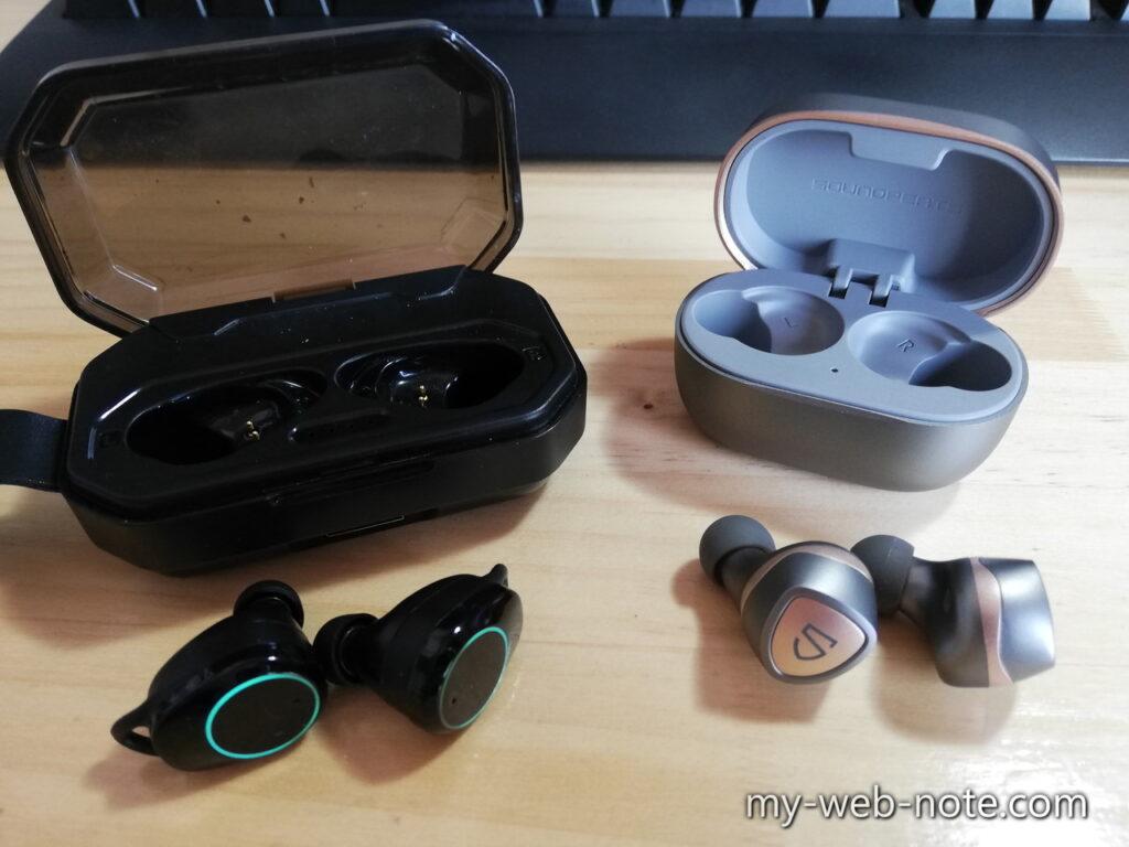『Hihiccup Bluetoothワイヤレスイヤホン』と比較してみた