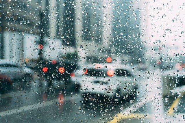 雨,車,ガラス