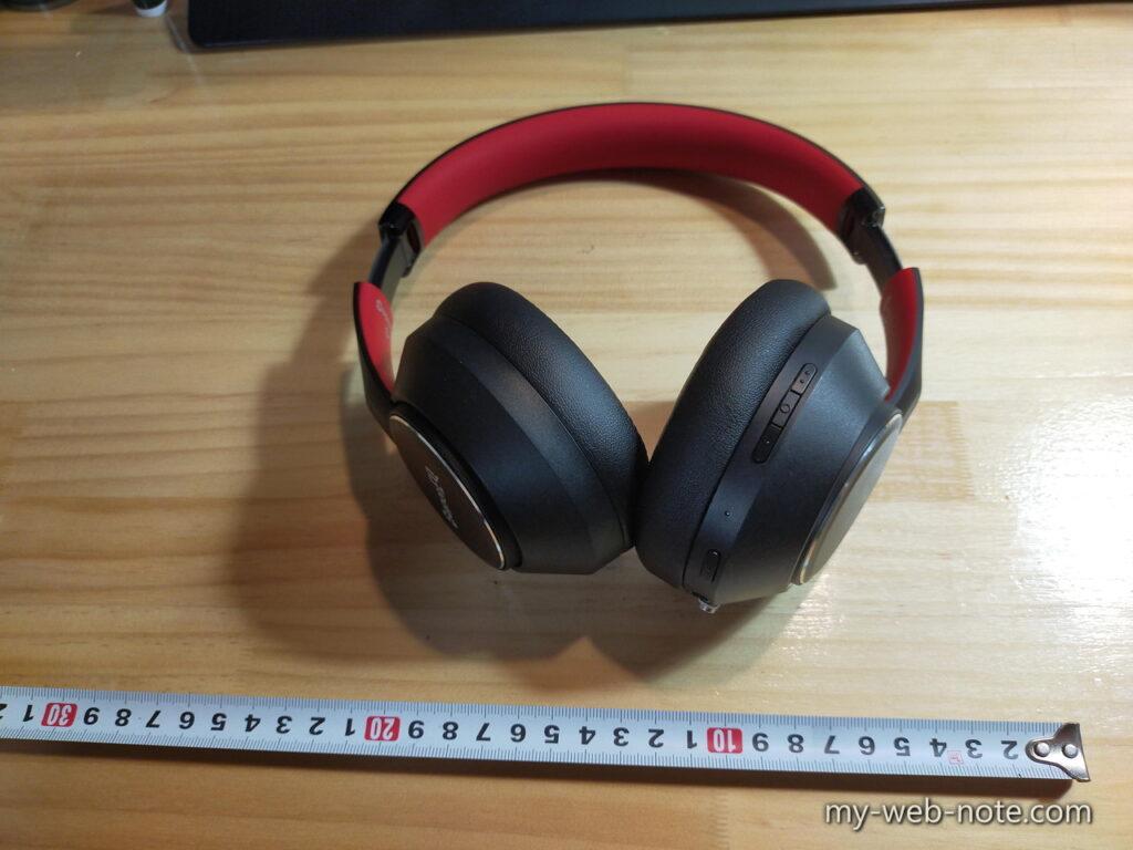 ワイヤレスヘッドホン「OneOdio SuperEQ S1」/ 締め付けがちょっと強い。