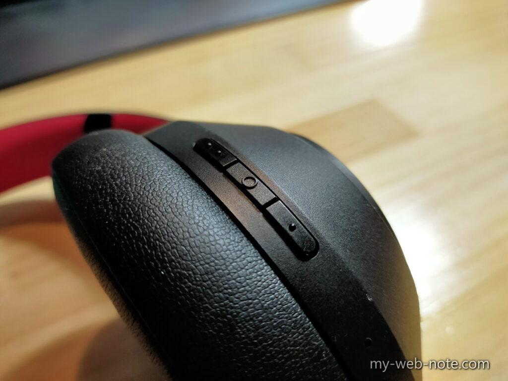 ワイヤレスヘッドホン「OneOdio SuperEQ S1」操作ボタン