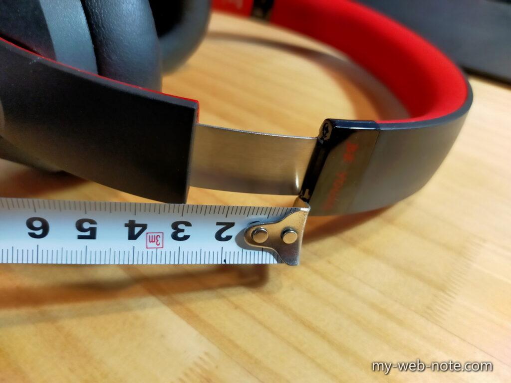 ワイヤレスヘッドホン「OneOdio SuperEQ S1」パッケージ&外観 / ヘッドバンド長さ調整
